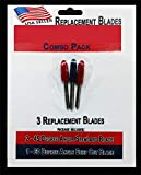 Replacement Combo Pack Includes 3 Blades for Craft Cutting Machines Compatible with Bridge Cricut Air Expression 2 Explore Maker Refine Cutters