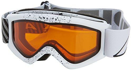 ALPINA Kinder Skibrille Carat D, Weiss Splash dlh (White Splash dlh), one Size