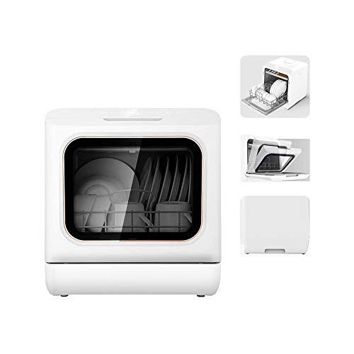 LKNJLL Tiroirs Pleine Console Lave-Vaisselle avec 5 Cycles de Lavage, 360 ° Non Morte Coin Décontamination