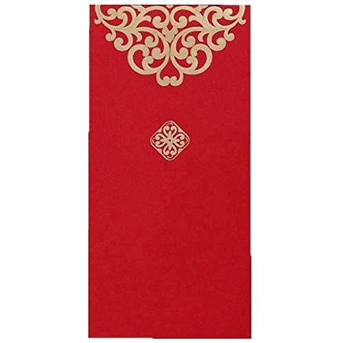 10pcs Red Chinese New Year Chinese Red Geld Umschlag, chinesische Tradition Roter Umschlag for Frühlings-Festival Lunar New Year Hochzeit Graduierung Und Geburtstag
