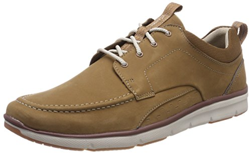 Clarks Herren Orson Bay Sneaker, Braun (Tan Nubuck), 42.5 EU