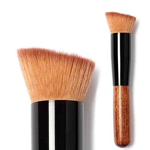 feiXIANG make - up brush für Frauen erröten brush puder brush Foundation Pinsel Neu Weich Make-up Pinsel stiftung kosmetische pinsel Große fächerförmige Ladies Rouge pinsel (Khaki)