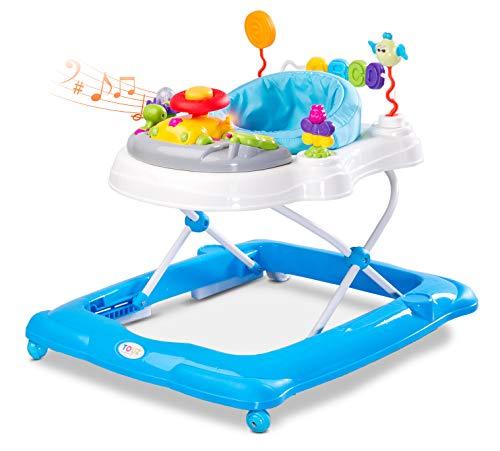 Caretero Toyz Stepp Lauflernhilfe Gehhilfe Laufhilfe mit Spielcenter Blau