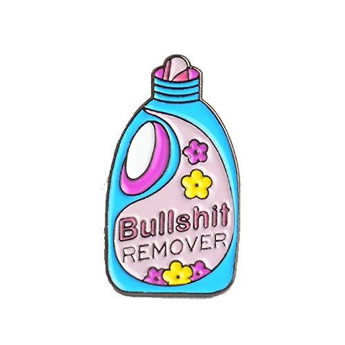 Clean Repellent Button Big Bottle Paint Enamel Brooch Detergent Pin for Jackets-1
