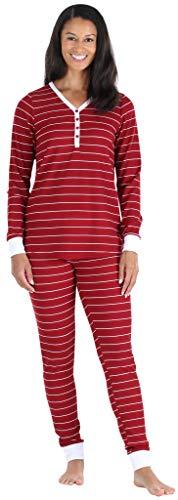 Olivia Rae Weicher Zweiteiliger Damen Schlafanzug Langärmelig und Hose im Jogging-Stil, (ORT1150-6011-EU-XS)