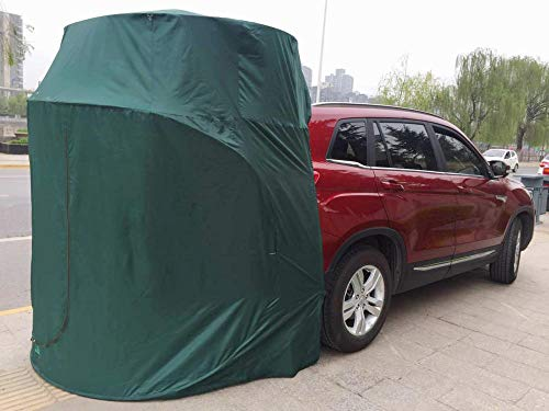 ASADVE Car Tent Camping Tent Camping Gear Multifunctional Car Tent, Self-Driving Tour, Car Roof And Tail Tent, Simple Rv, Suv, Outdoor Camping And Camping