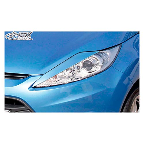 RDX RDSB103 Alerones de faros compatible con Ford Fiesta VII 2008-2012 (ABS)
