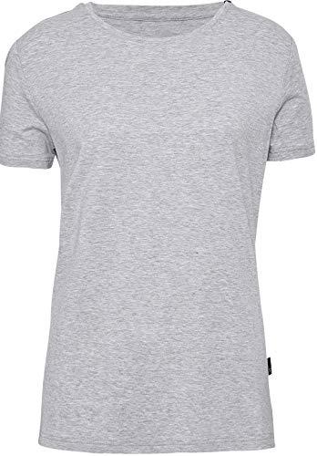 jbs of Denmark T-shirt voor dames, ronde hals, ideale pasvorm, ultra soft touch, en hoog ademend vermogen door bamboe-katoenweefsel (zonder krassende zijnaden) wit, grijs, zwart, S-XL