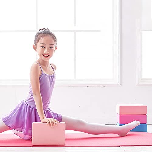 Bloques de Yoga- Bloque de Espuma EVA de Alta Densidad para Apoyar y Profundizar Las Poses,Mejorar la Fuerza y Ayudar en el Equilibrio y la Flexibilidad,Yoga Pilates Amantes