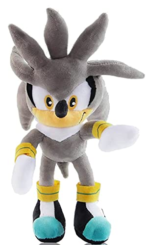 Sonic Plush Doll Sonic The Hedgehog Plush Figure Toy Sonic Hedgehog Cartoon Character Plush Stuffed Doll 11 inches (Gray)