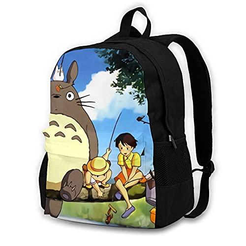 Mochila de viaje Anime My Neighbor Totoro Mochila de viaje para ordenador portátil, impresión 3D, bolsa multifunción de dibujos animados, apta para camping, Mi vecino Totoro-4, Talla única