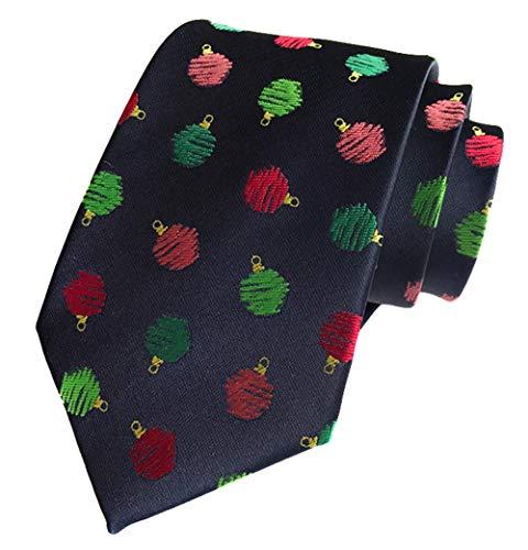 MENDENG Navy Red Green Christmas Tie for Men Jacquard Woven Silk Necktie Gift