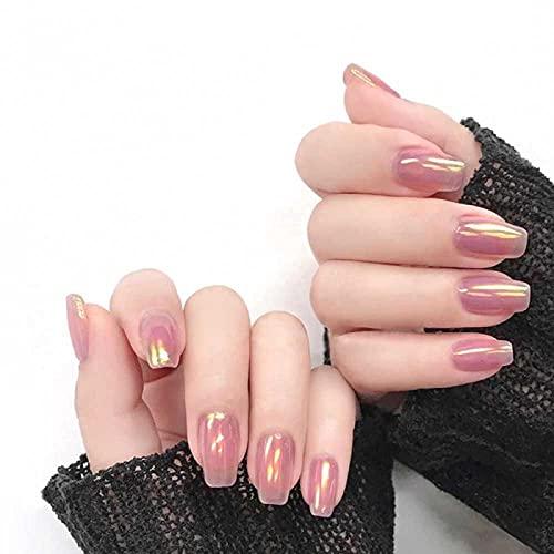 Faux ongles 24 pièces faux ongles strass long bâton français détachable sur les ongles flamme de cercueil appuyez sur les ongles art bricolage conseils de manucure