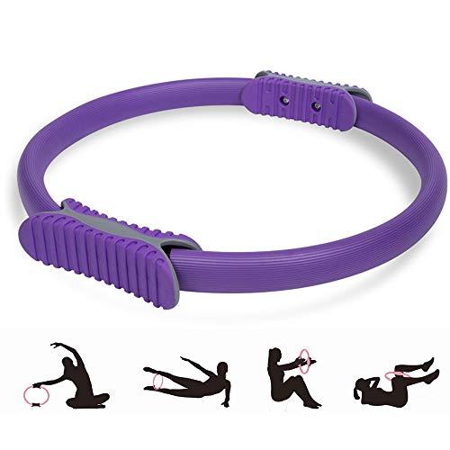 KUANDARMX Stark Yoga Pilates Fitness Kreis Toning Ring für Muskelübungen Body Exerciser Fitness Trainer für straffende Oberschenkel und Beine Anwesend, Purple