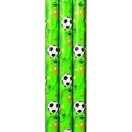 3,56 EUR//m² Geschenkpapier Rolle 2mx70cm Fußball WM EM Meister Präsent