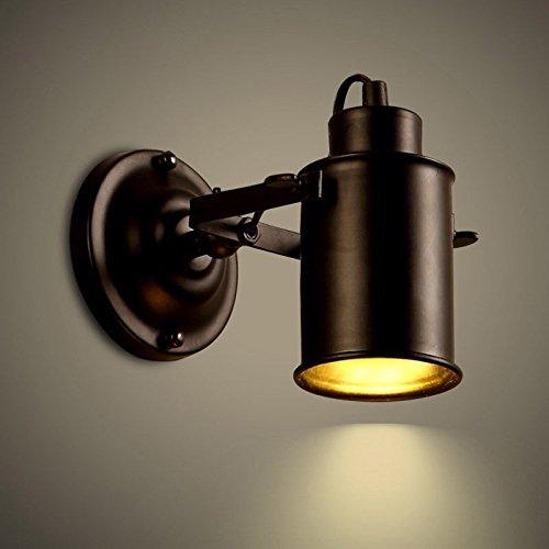 Lampe murale moderne/applique murale LED Applique murale Vintage Loft Industriel lampe murale métal noir 1-lumière Applique murale LED Spot