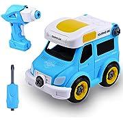 allcaca DIY Auto Spielzeug,Rennwagen Spielzeug,Auto zusammenbauen,Spielzeug bauen Enthält 25 Komponenten Bestes Geschenk für Kinder ab 3 Jahren