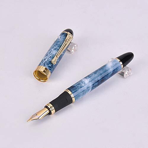 Füllfederhalter Luxus auffälliger blauer Füllfederhalter, hochwertige Metallic-Tinte für Büro- und Schulbedarf