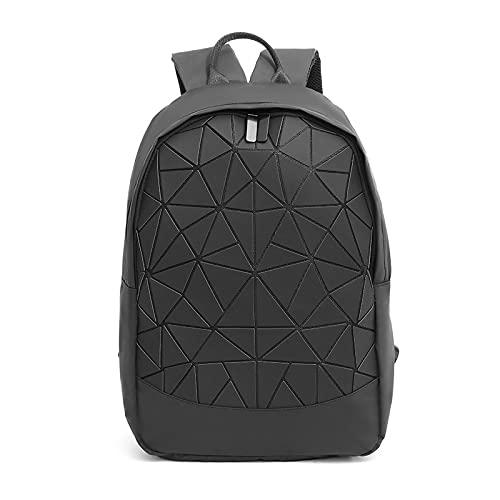 QIANJINGCQ Outdoor fashion per il tempo libero colorato luminoso rombo geometrico zaino da viaggio studente borsa marea selvaggia zaino di grande capacità
