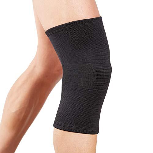 Actesso Schwarz Elastiche Kniebandage (Groß): Kann bei Verletzungen des Knies, wie Zerrungen und Verstauchungen eingesetzt Werden