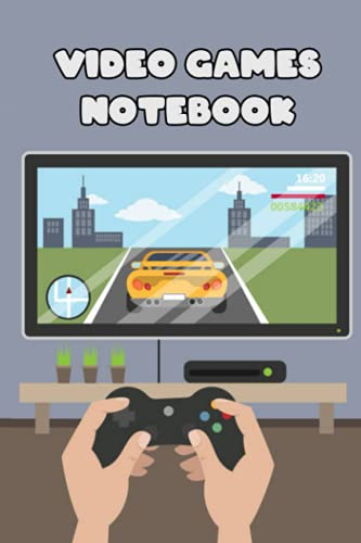 Video Games Notebook: Notebook|Journal| Diary/ Lined - Size 6x9 Inches 100 Pages