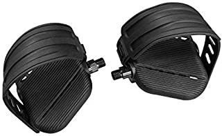SB Distribution Ltd. (Deluxe Stationary Bike Pedals - w/Straps. Left+Right - Two Shaft Sizes Offered 1/2