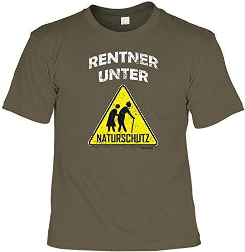 witziges und tolles T-Shirt Goodman Design Farbe: khaki : RENTNER UNTER NATURSCHUTZ