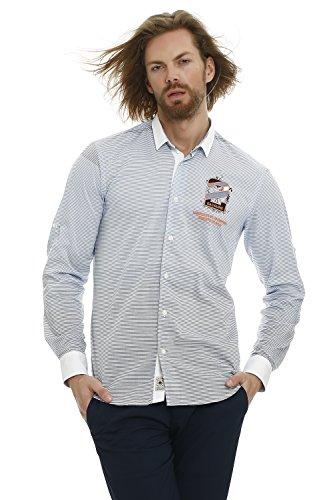 GALVANNI Anvik Camisa Casual, Azul (Vintage Indigo Multi Striped 8859), XX-Large (Tamaño del Fabricante:XXL) para Hombre