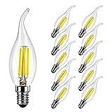 Lampadina LED Candela Fiamma E14 4W Equivalenti 40W, 400 Lumen, Bianca Fredda 6500K, E14 F...