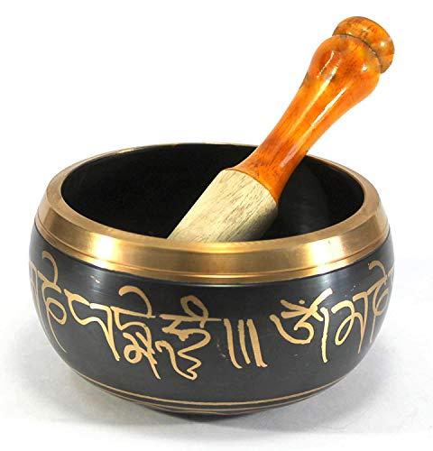 eSplanade - 5 pollici - Campana tibetana strumento di preghiera buddista tibetano con striker | OM Bell | Ciotola OM | Ciotola per meditazione | Musico-terapia
