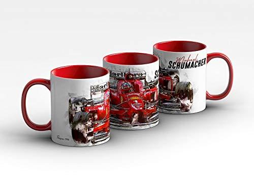 gasoline.gallery Formel 1 Tasse - Michael Schumacher - Scuderia Ferrari - 1996 Front Kaffeebecher Rot