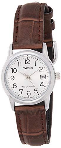 Casio Ltp-v002l-7b2 Reloj Analógico para Mujer Caja De Metal Esfera Color Plateado