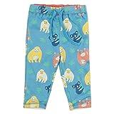 Piccalilly - Pantalón reversible para bebé y niño, algodón orgánico, estampado de orangután azul para niños y niñas Multicolor multicolor 6-12 Meses