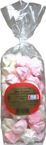 Baiser Gebäck Mini Tropfen Mix mit Vanille- und Erdbeergeschmack 100 g, 6er Pack (6 x 100 g)