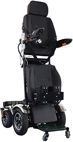 HEZHANG Sillón de Silla de Ruedas Eléctrica Pesada Sentado Y de Pie 3 Modos para Ancianos Y Discapacitados (Ancho de Asiento de 50 Cm)