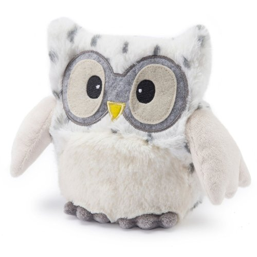 Intelex Warmies Microwavable French Lavender Scented Plush Hooty Snowy Owl, 10', Snow White