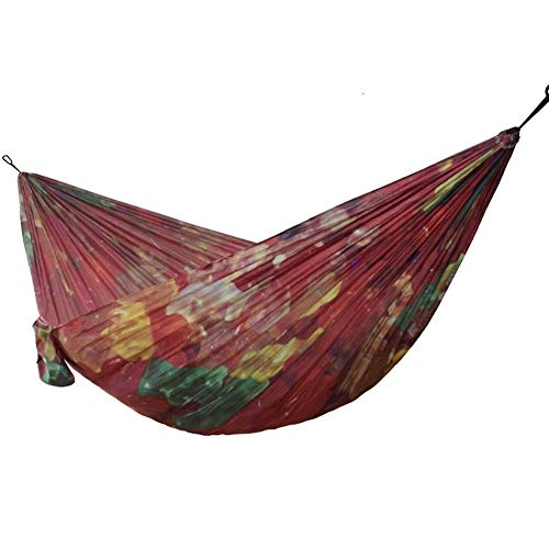 miwaimao Hammock Parachute Cloth Colorful Printed Hammock For Outdoor Garden Survival Travel Camping Durable Leisure Hanging Swing Hammock