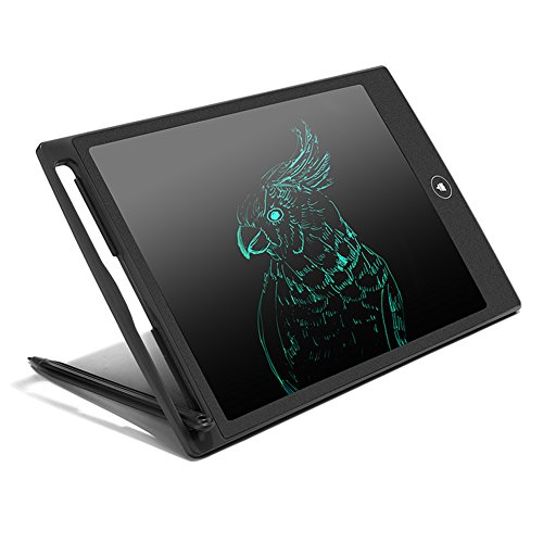 LCD Writing Tablet 8.5-inch Digital Handwriting Drawing Board for Kids Office Electronic Writing Board with Replaceable Battery (Black)