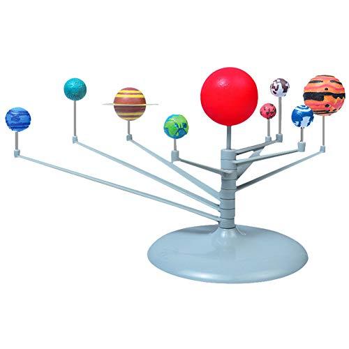 Hztyyier Maquette Systeme Solaire Jouet, 9 Planètes Solaire Système Jouet pour Enfants Kit Modele du Systeme Planetaire Balle Lumineuse Astronomique Assemblée