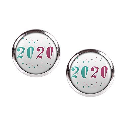 Mylery Ohrstecker Paar mit Motiv 2020 türkis rot silber 12mm