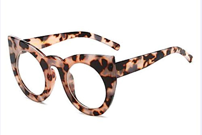 CQYYDD FashionRound Cat Eye Sonnenbrille Gradient Wei Schwarz Big Ladies Sonnenbrille Für Frauen Cat Eye Luxury Oculos