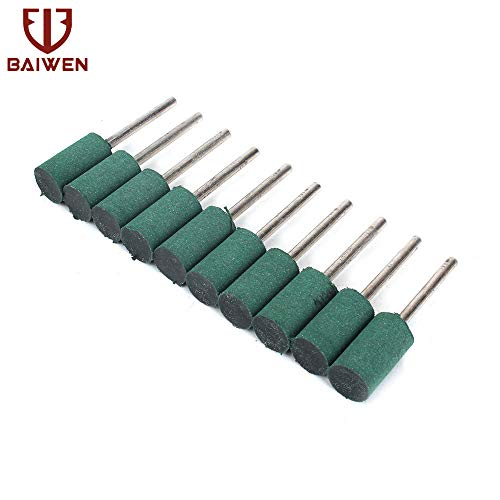 Review Of Xucus 1018mm 10-100Pcs Grinding Head Rubber Cylindrical Abrasive Head Rotary for polishing...