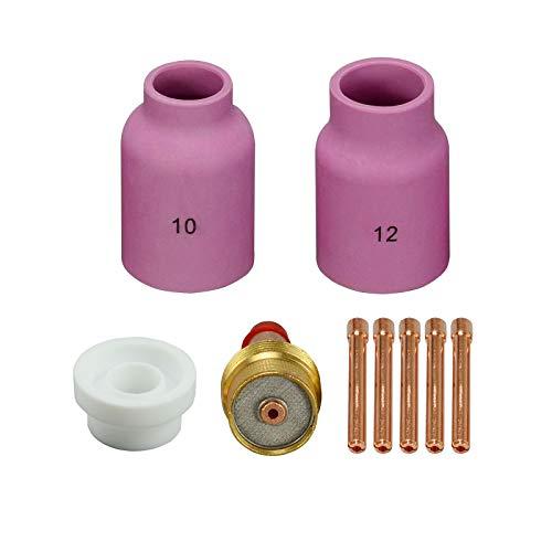 TIG Kit de accesorios de lentes de gas 45V64 Tig Soplete WP-17 WP-18 WP-26 9pcs