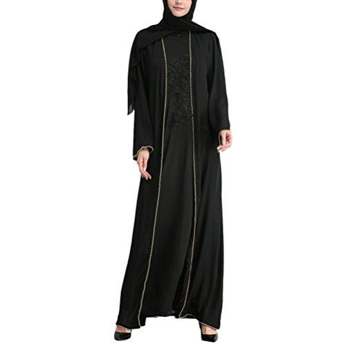 Zhuhaitf Lange Ärmel Muslime Abaya Abend Party Kleider Täglich Beiläufig Tunika Marokkanisch Abaya Islamisch Kleidung Maxi Dresses