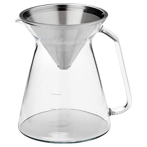 HOGMODIG Kaffeemaschine für Tropfkaffee Klarglas Edelstahl