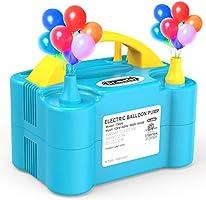 Dr.meter Ballonluchtpomp, Elektrische Inflatorpomp met Dubbele Sproeierblazer Draagbare Pomp voor Kerstdecoraties,...
