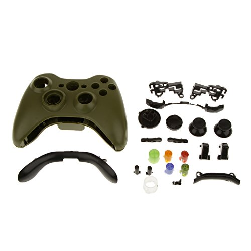 Full Housing Button Case Cover Hülle Mod Kit Ersatz für Xbox 360 Controller - Armee Grün