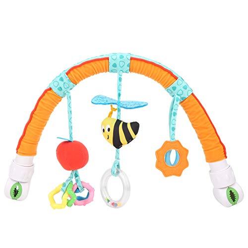 Zerodis Cochecito de bebé con Arco, Juguete para Cuna, Animal de Dibujos Animados para Cochecito de bebé Juguete para Colgar Barra de Actividades para Cochecito con sonajero / chirrido(Abeja)