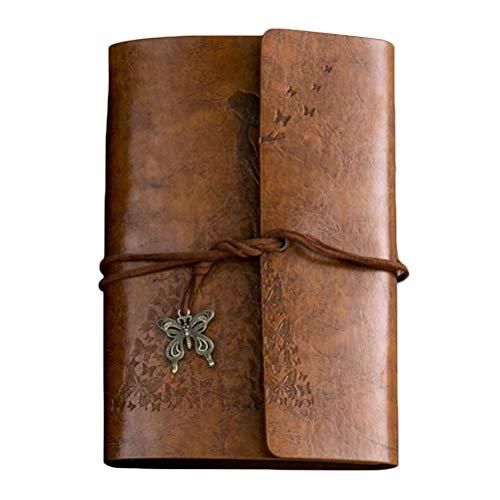 STOBOK Blocco note per appunti vintage in similpelle, taccuino per pagine, diario di appunti per diario (marrone)