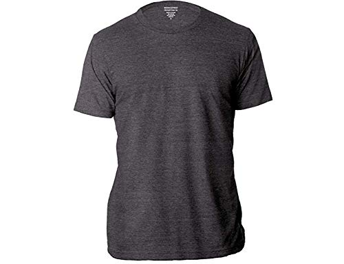 BANANA REPUBLIC Men's Crew Neck Premium-Wash T Shirts (Charcoal, Large)